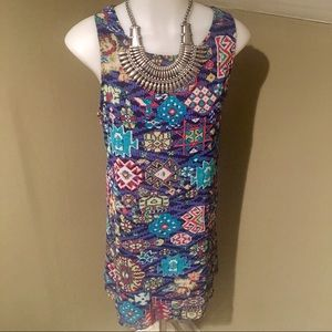 Xhilaration Women's Colorful Sleeveless Dress/SZ L